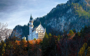 города, замок нойшванштайн , германия, замок