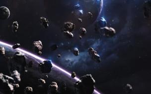 вселенная, планета, галактики, звезды, метеориты