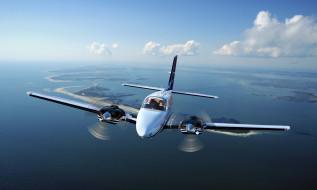 beechcraft baron g58, легкий, самолет, небо
