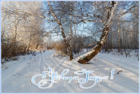 праздничные, новогодние пейзажи, зима