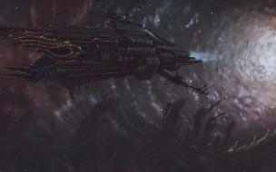 Звезды, Космос, Корабль, Art, Космический Корабль
