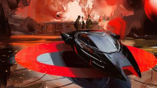 Darek Zabrocki, by Darek Zabrocki, People, Фантастика, Арт, Fantasy, Авто, Car, Red, Стиль, Машина