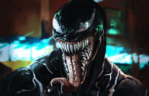 Эдди Брок, Tongue, Язык, Рисунок, Teeth, Cinema, Symbiote, Eddie Brock, Комиксы, Film, Марвел, Movie, Симбиот, Venom, Веном