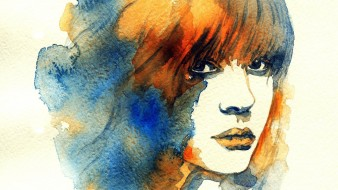 лицо, девушка, краски