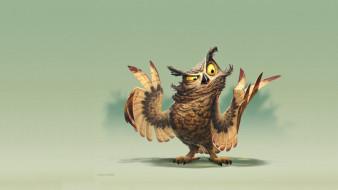 James Castillo, Owl painting, арт, позитив, минимализм, сова, настроение