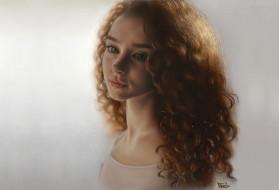 арт, девушка, портрет
