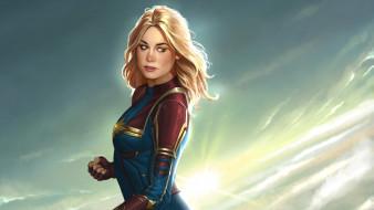 супергерои, персонаж, рисунок, captain marvel