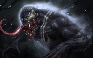 Язык, Зубы, Marvel, Веном, Venom, Симбиот, Creatures, Venom Fanart, Vladyslav Kutuzov