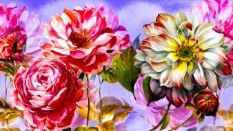 разное, компьютерный дизайн, kolorowe, kwiaty, grafika