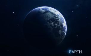 Space, Звезды, Арт, Космос, Планета, Stars, Земля