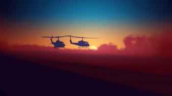 вертолеты, полет
