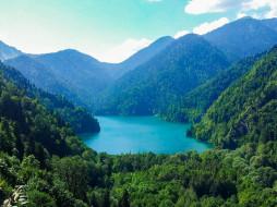 Кавказ, Рица, Абхазия, Озеро, горы