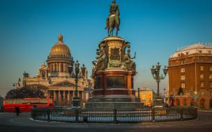 площадь, памятник, исаакиевская, петербург