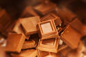 куски, плитка, шоколад