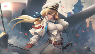 карабль, аниме, арт, капитан, флот, Captain, Taejune Kim