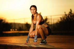 девушка, поза, фитнес
