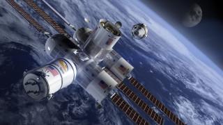 космическая станция, вселенная, полет
