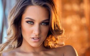 девушка, Uma Jolie, модель, лицо, портрет, макияж, взгляд