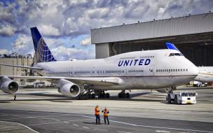 boeing b747, авиация, пассажирские самолёты, пассажирский, самолет, терминал, сша, аэропорт