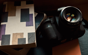 canon, книга, линза, объектив, цифровой фотоаппарат