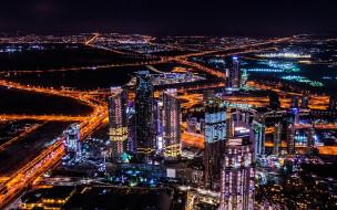 городские виды, объединенные арабские эмираты, 4k, оаэ, небоскребы, дубай