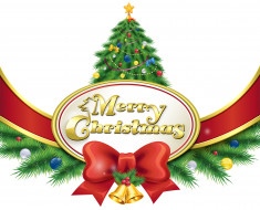 праздничные, векторная графика , новый год, украшения, бантик, фон, ветки, шары, елка