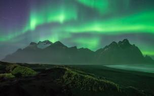 скалы, туман, ночь, горы