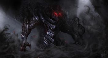 Тьма, Демон, Монстр, Арт, Art, Фантастика, Illustration, Concept Art, Demon, Characters, Vladyslav Kutuzov