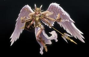 an angel knigth, Hyein Go, ангел, арт, крылья
