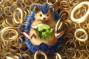 Арт, Соник, Игра, Art, Кольца, Rings, Digital Art, Алмаз, Sonic, Fan Art, Characters, Ёж Соник, Creatures