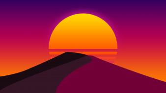 песок, солнце, закат