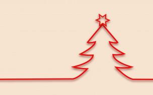 праздничные, векторная графика , новый год, украшения, елка