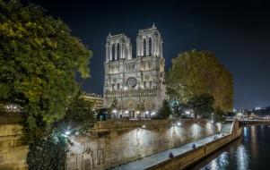 notre-dame de paris, города, париж , франция, простор
