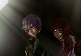 аниме, vampire knight, двое