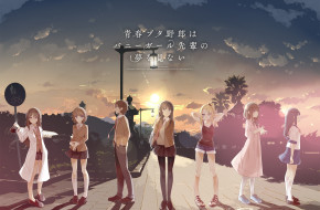 аниме, rascal does not dream of bunny girl senpai, rascal, does, not, dream, of, bunny, girl, senpai