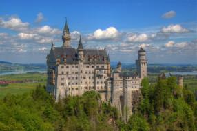schlo&, 223,  neuschwanstein, города, замок нойшванштайн , германия, простор