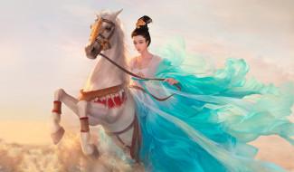 девушка, конь, всадница, арт, фЭнтези, fanbingbing, Da congjun