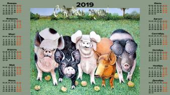 свинья, поросенок, трава