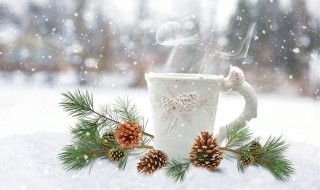 Новый год, чашка, кружка, пар, зима