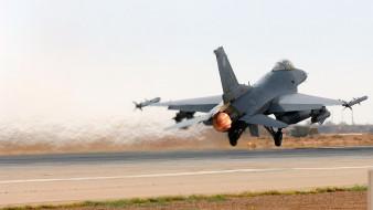 взлет, военная авиация, аэродром, истребитель