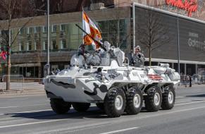 техника, военная техника, зимняя, версия, камуфляжа, бронетехника, бтр-82а, флаг