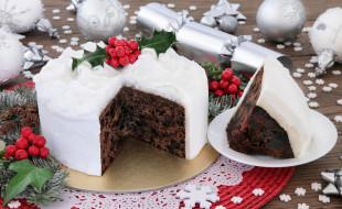 рождественские украшения еда, сладости, торт