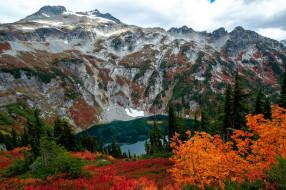осень, горы, озеро