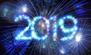 фейверк, цифры, праздник, новый год