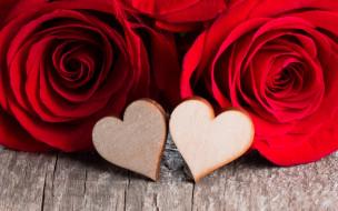 праздничные, день святого валентина,  сердечки,  любовь, розы