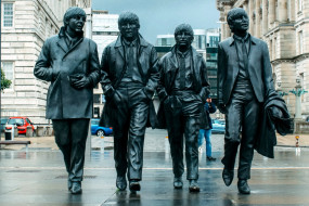 statue of the beatles, liverpool,  england, города, - памятники,  скульптуры,  арт-объекты, england, statue, of, the, beatles