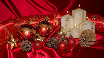 праздничные, новогодние свечи, christmas