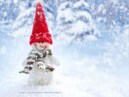 шарф, снежинка, снег, снеговик, шапка
