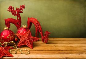звезда, олень, шар, игрушка