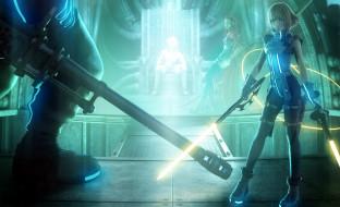видео игры, final fantasy vii,  dirge of cerberus, девушки, оружие, трон, площадка